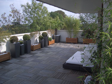 terrasse zen design. Black Bedroom Furniture Sets. Home Design Ideas