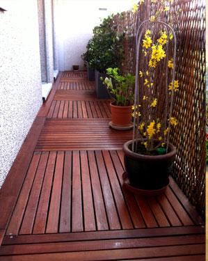 Caillebotis balcon